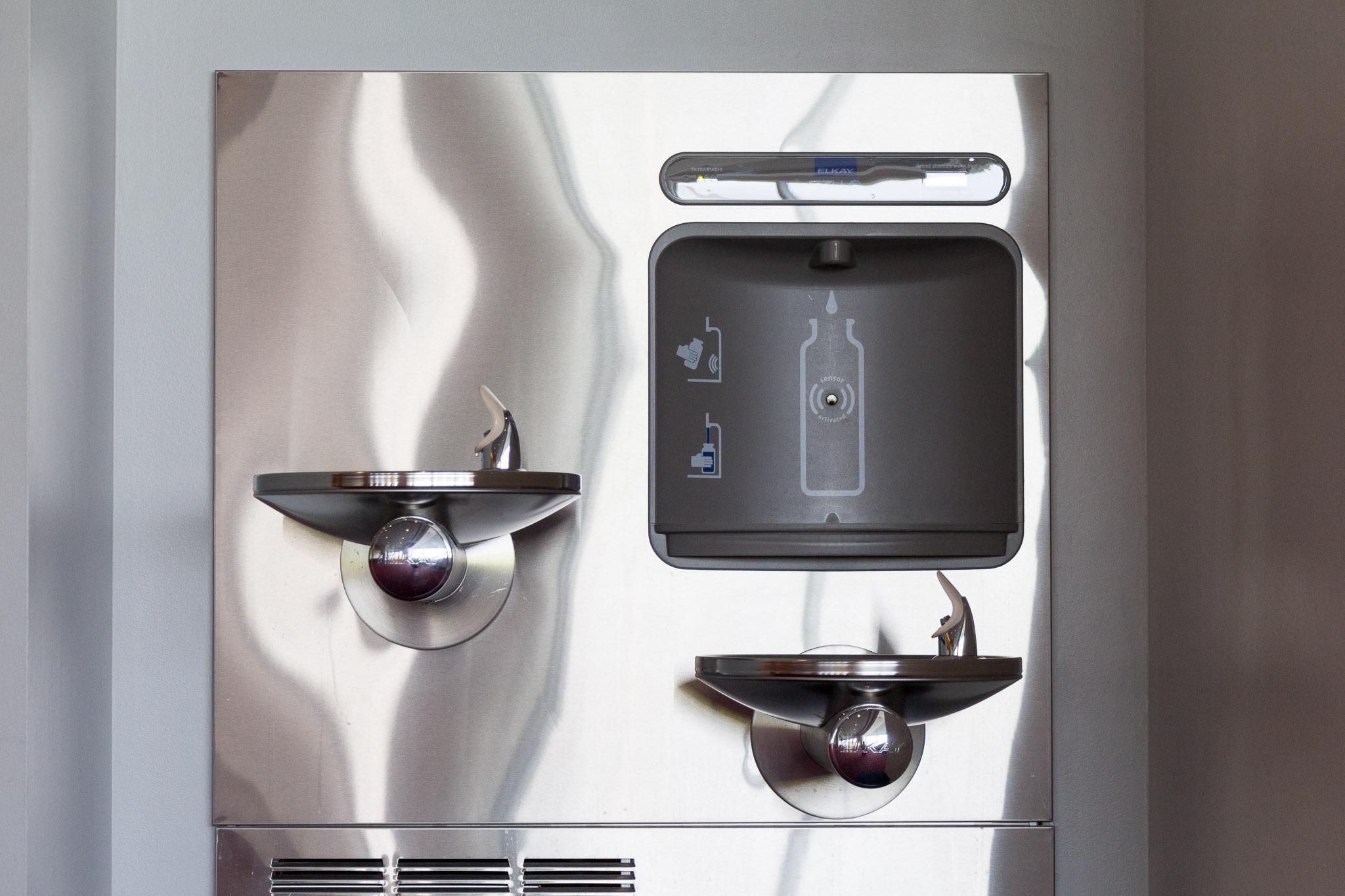 water bottle filling station