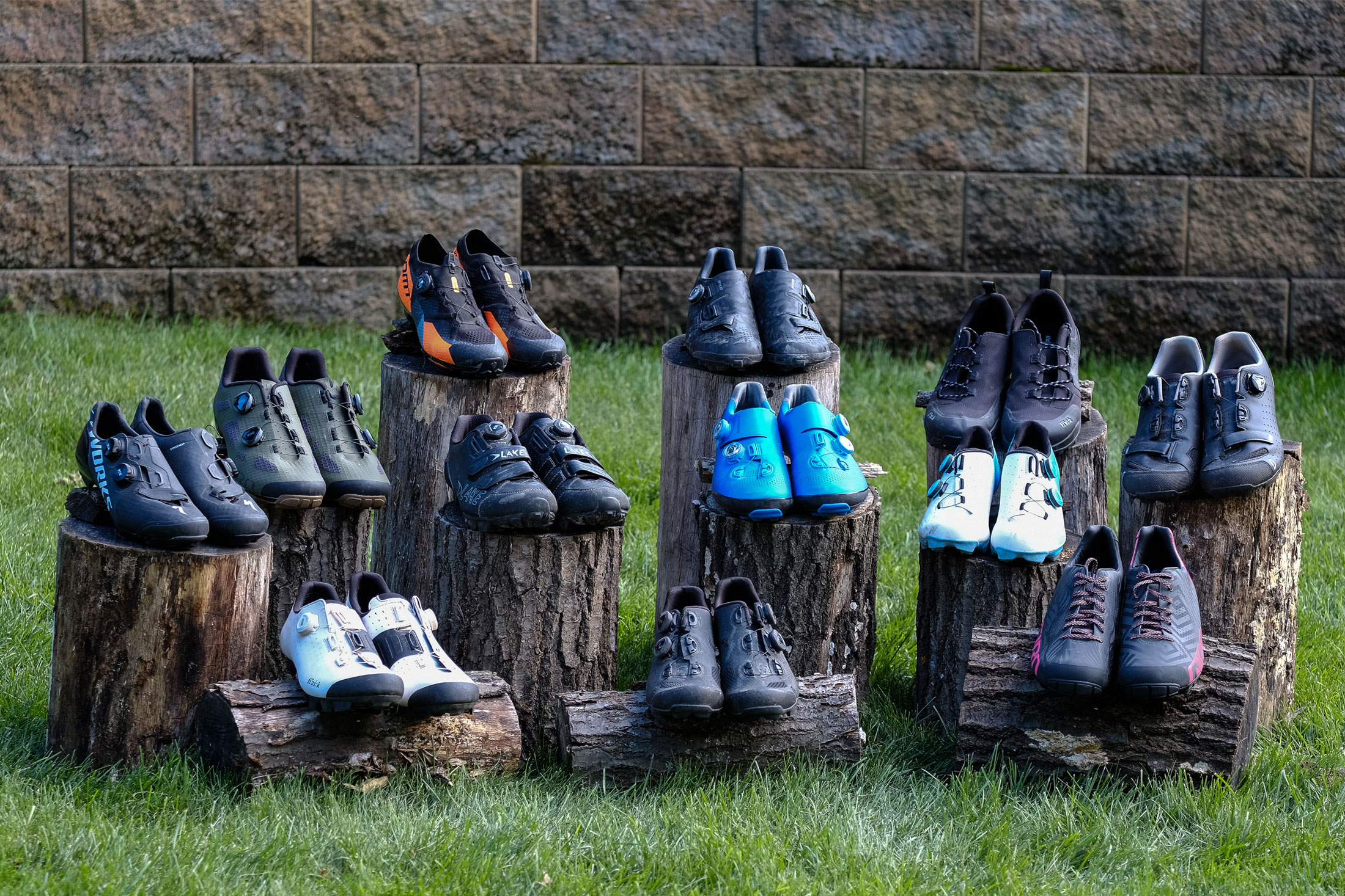 assortment of the best mountain bike shoes