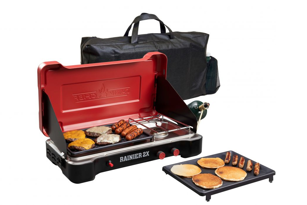 camp chef rainier 2x combo grill and stove