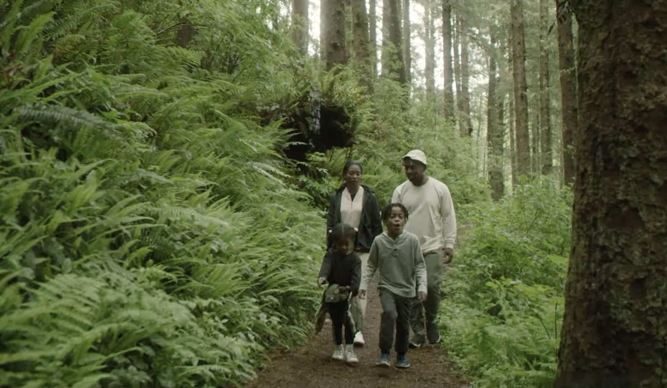 rashad and his family hiking in Oregon