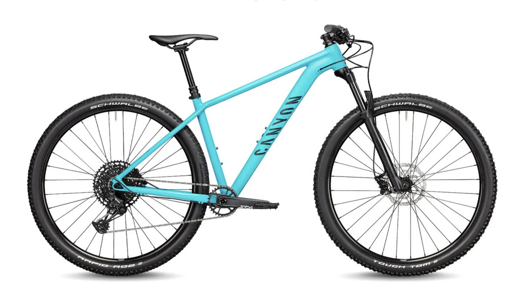 grand canyon 7 bike in bright teal blue