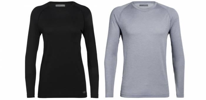 icebreaker cool-lite merino motion seamless long sleeve crewe t-shirt