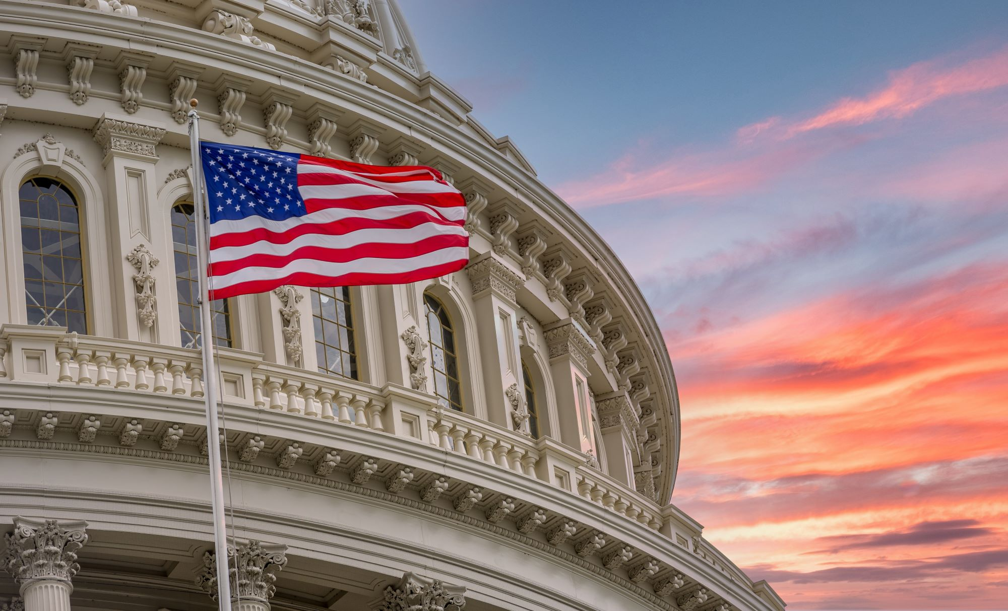 united states capitol american flag