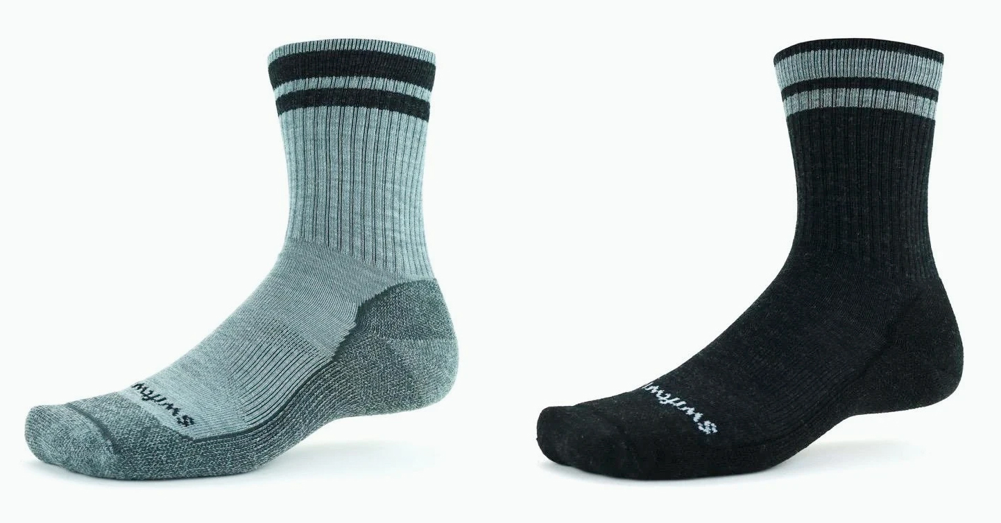 swiftwick pursuit hike six lightweight socks