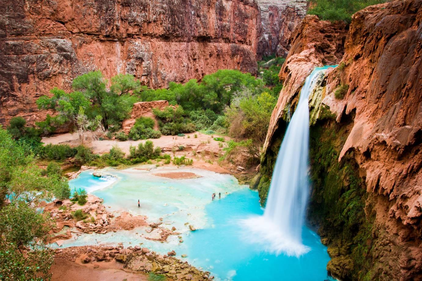swimming holes perfect for a summer dip - havasu falls