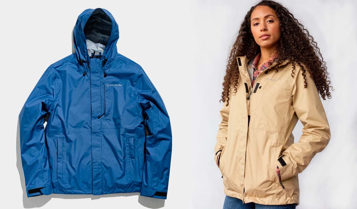 united by blue recycled raincoat