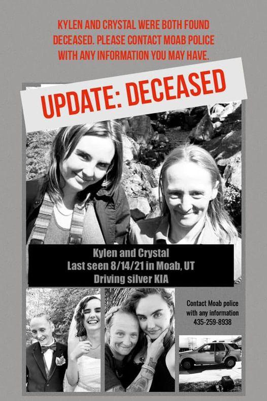 kylen schulte crystal beck moab women found dead la sals
