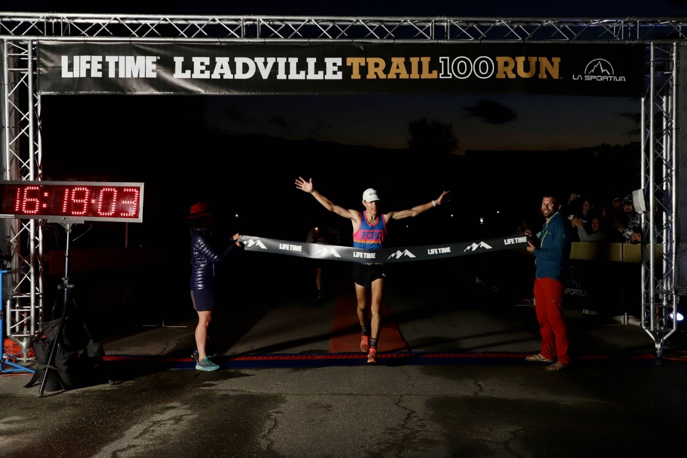 Adrian Macdonald took first in the Leadville Trail 100 on Aug. 22, 2021 (Photo/Life TIme)