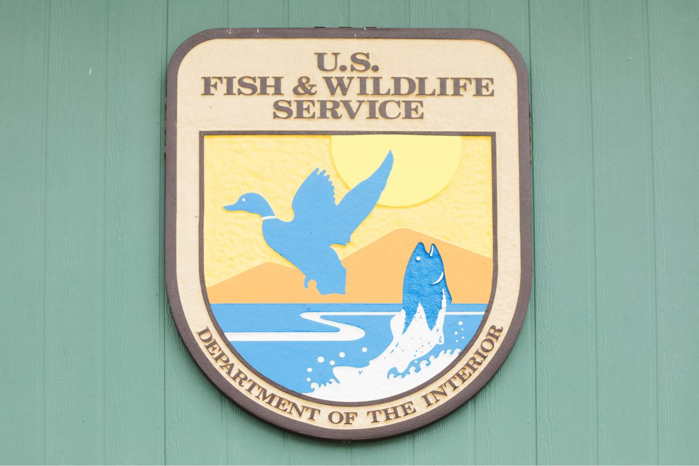 US Department of the Interior's Fish and Wildlife Service sign