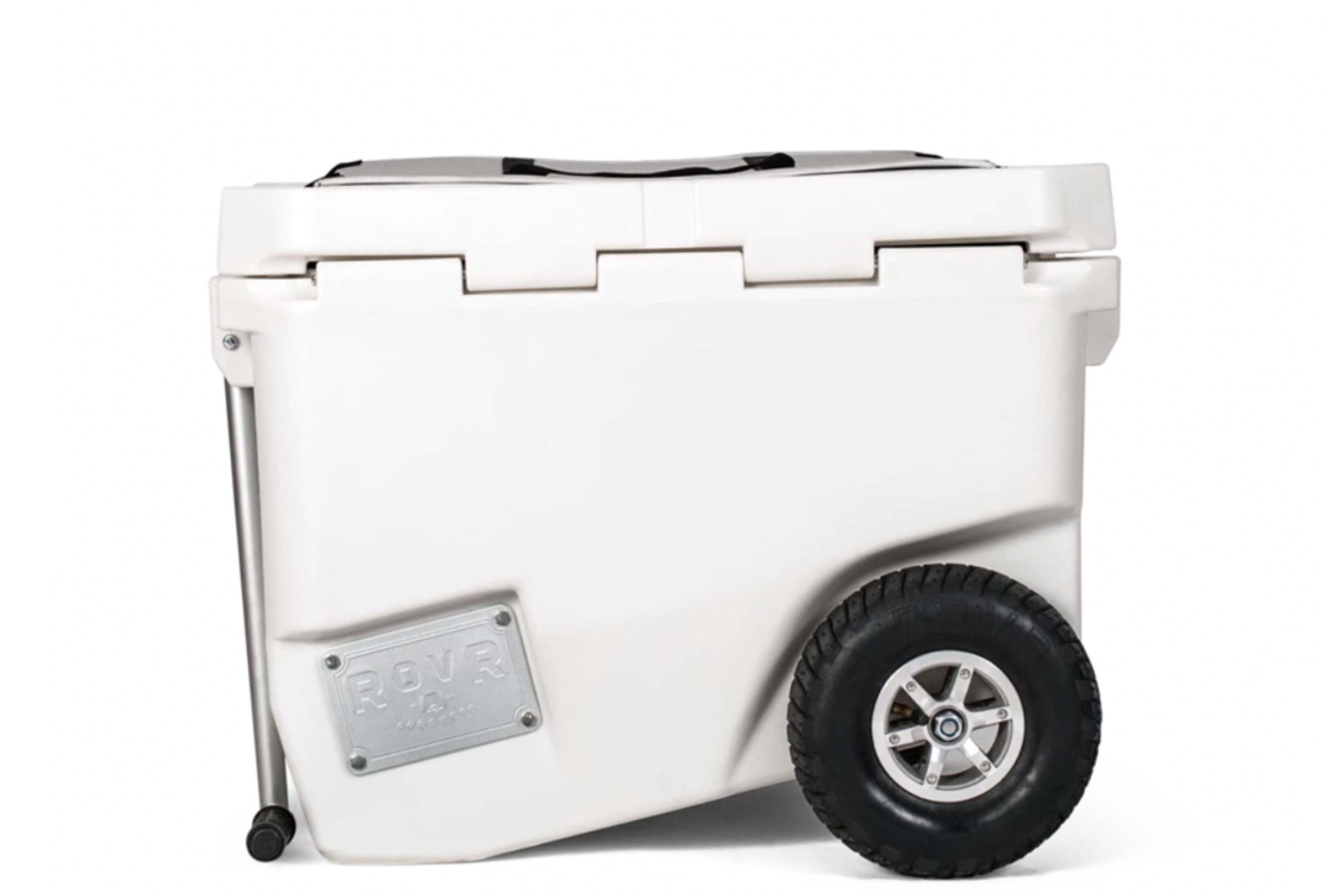 ROVR RollR wheeled cooler with bike hitch attachment and pull handle