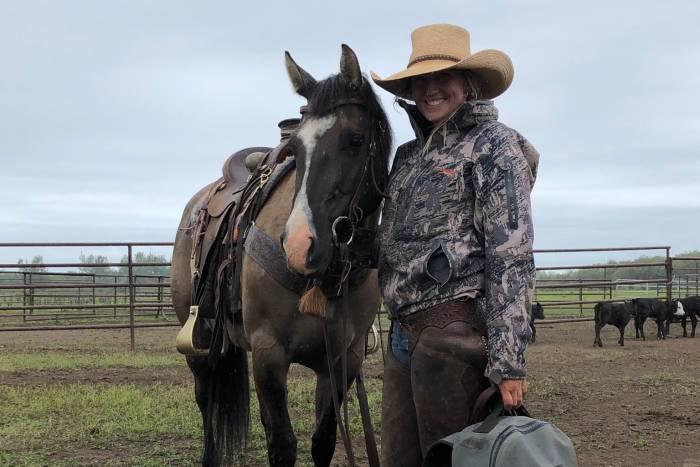 Rachel Ahtila with horse YETI Crossroads