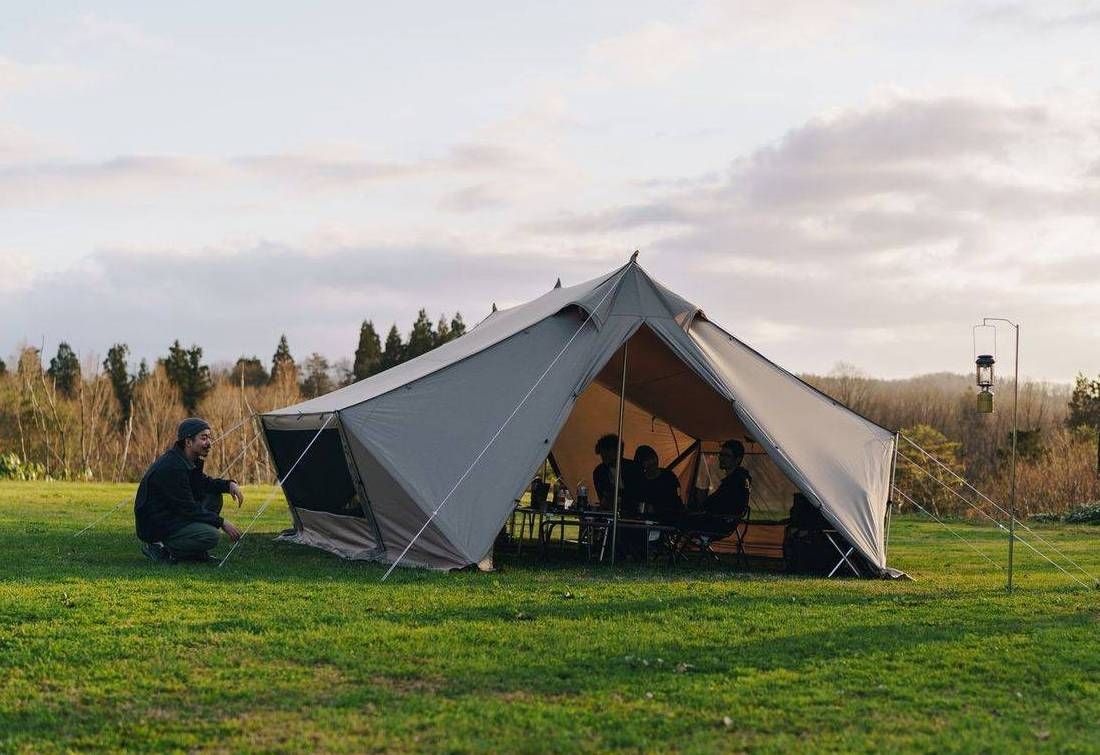 Snow Peak Living Lodge tent, c. Snow Peak Facebook page