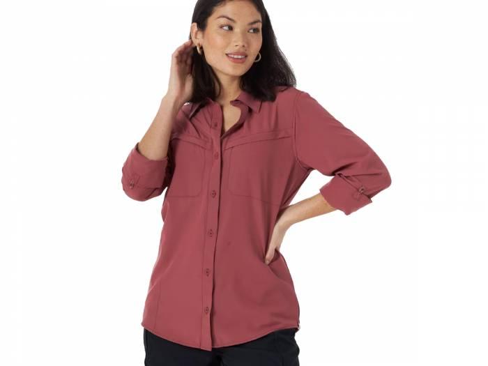 Wrangler ATG Mixed Material Utility Shirt