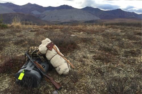 Panga field cache with mountains
