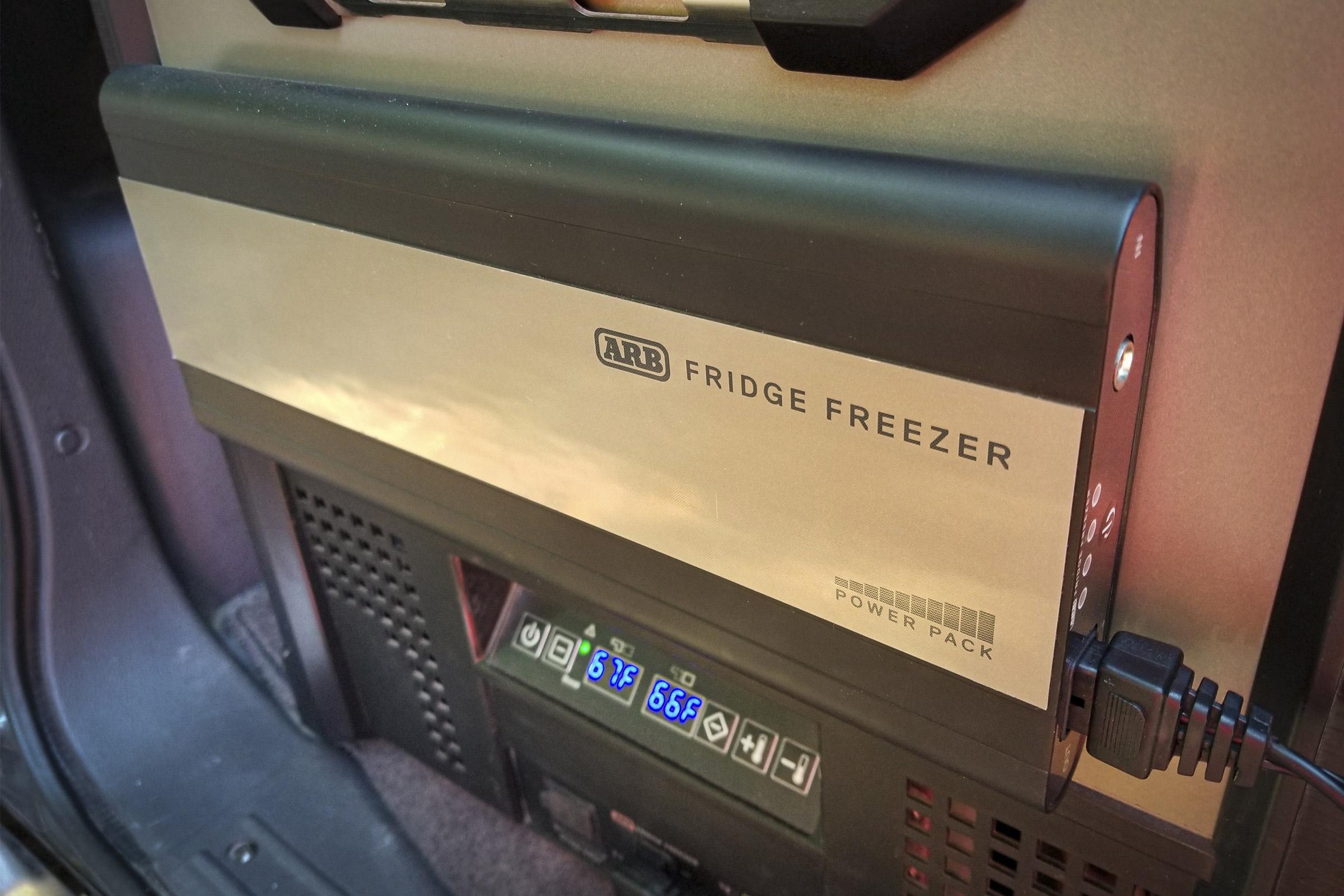 arb power pack on zero fridge in pajero