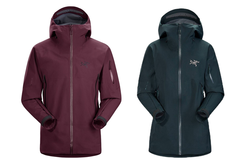 arc'teryx sabre ar and sentinel ar ski jackets