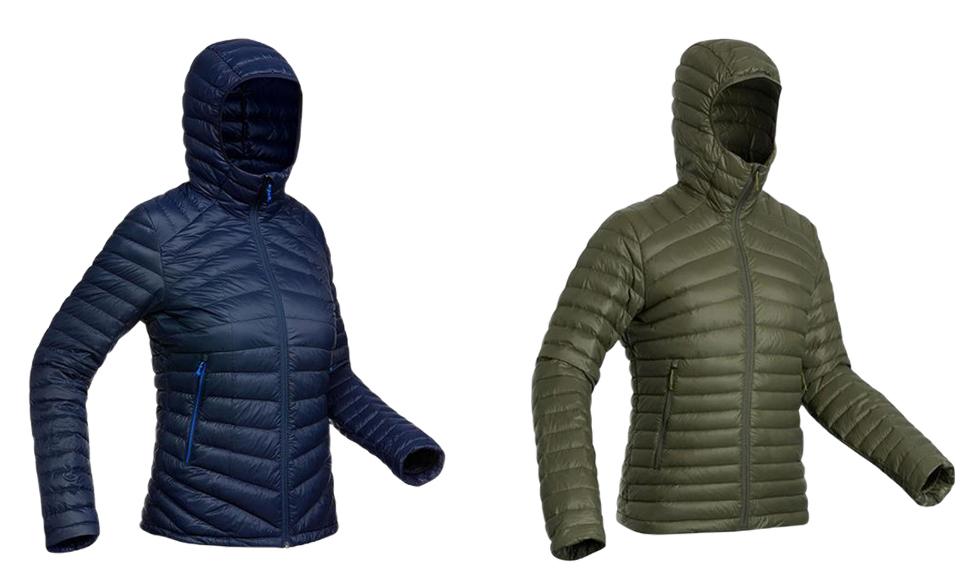 decathlon forclaz trek 100 compact down hiking jacket