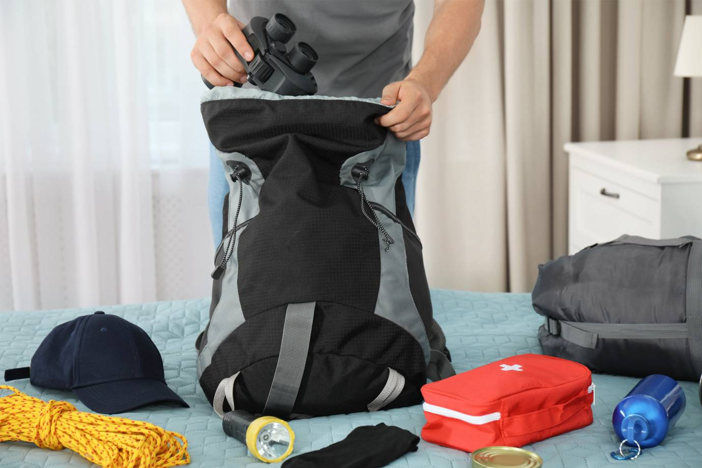 packing travel backpack