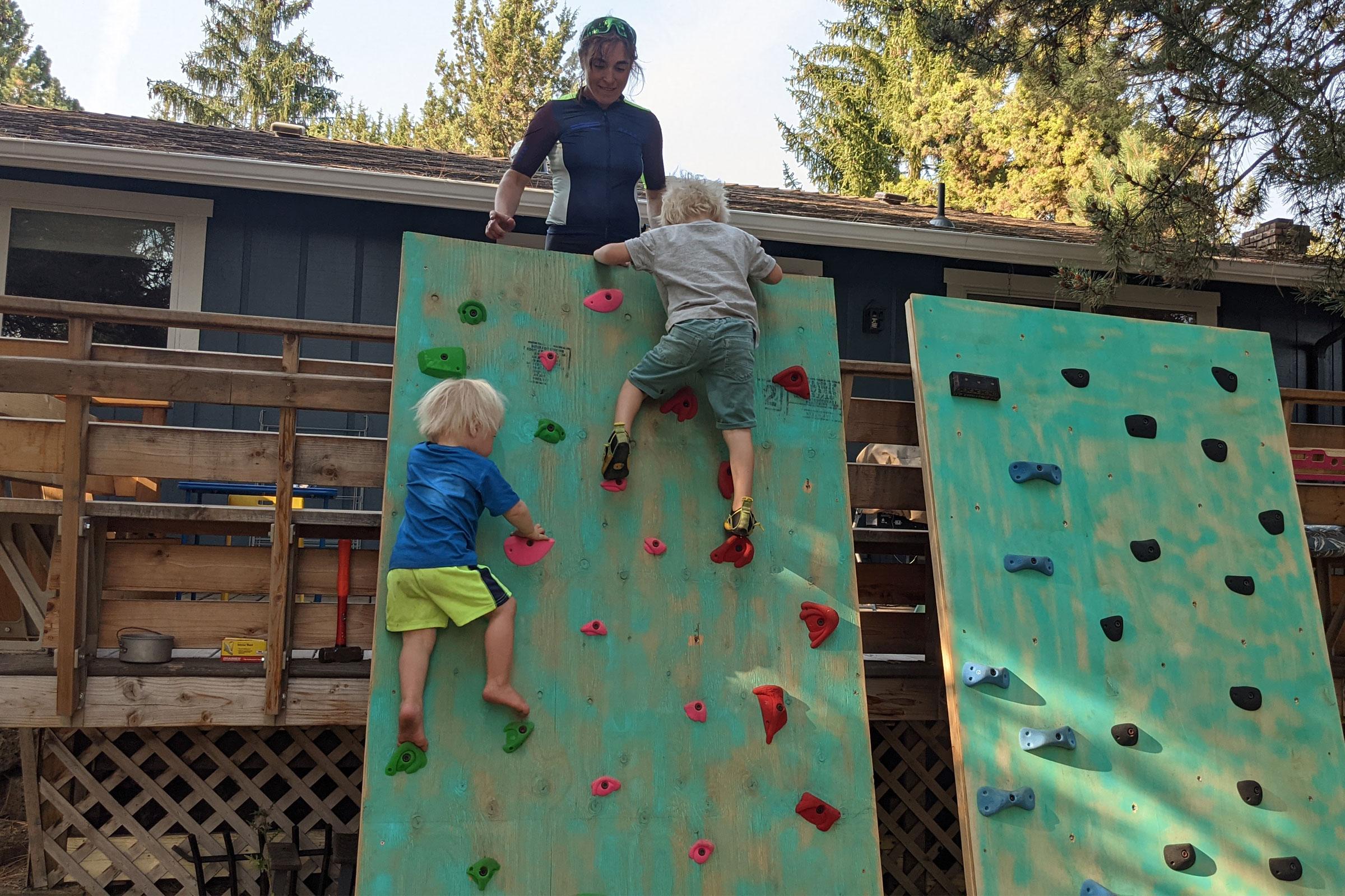 dyi kids climbing wall
