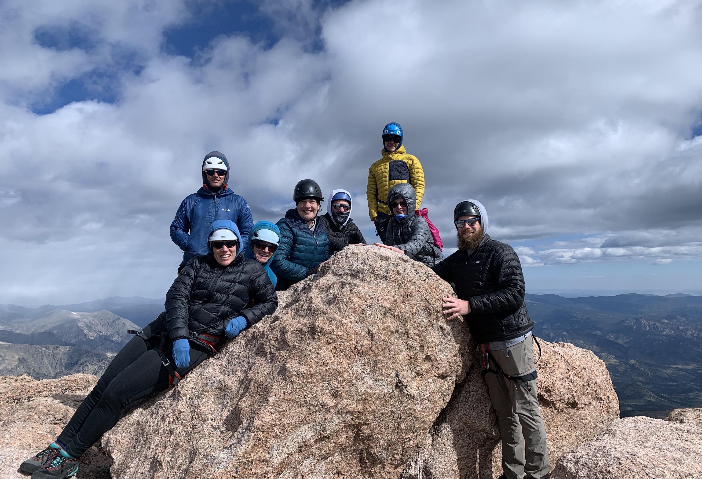 longs peak summit with guides