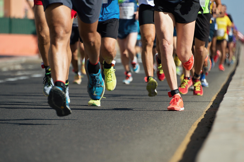 Marathon Road Running Feet