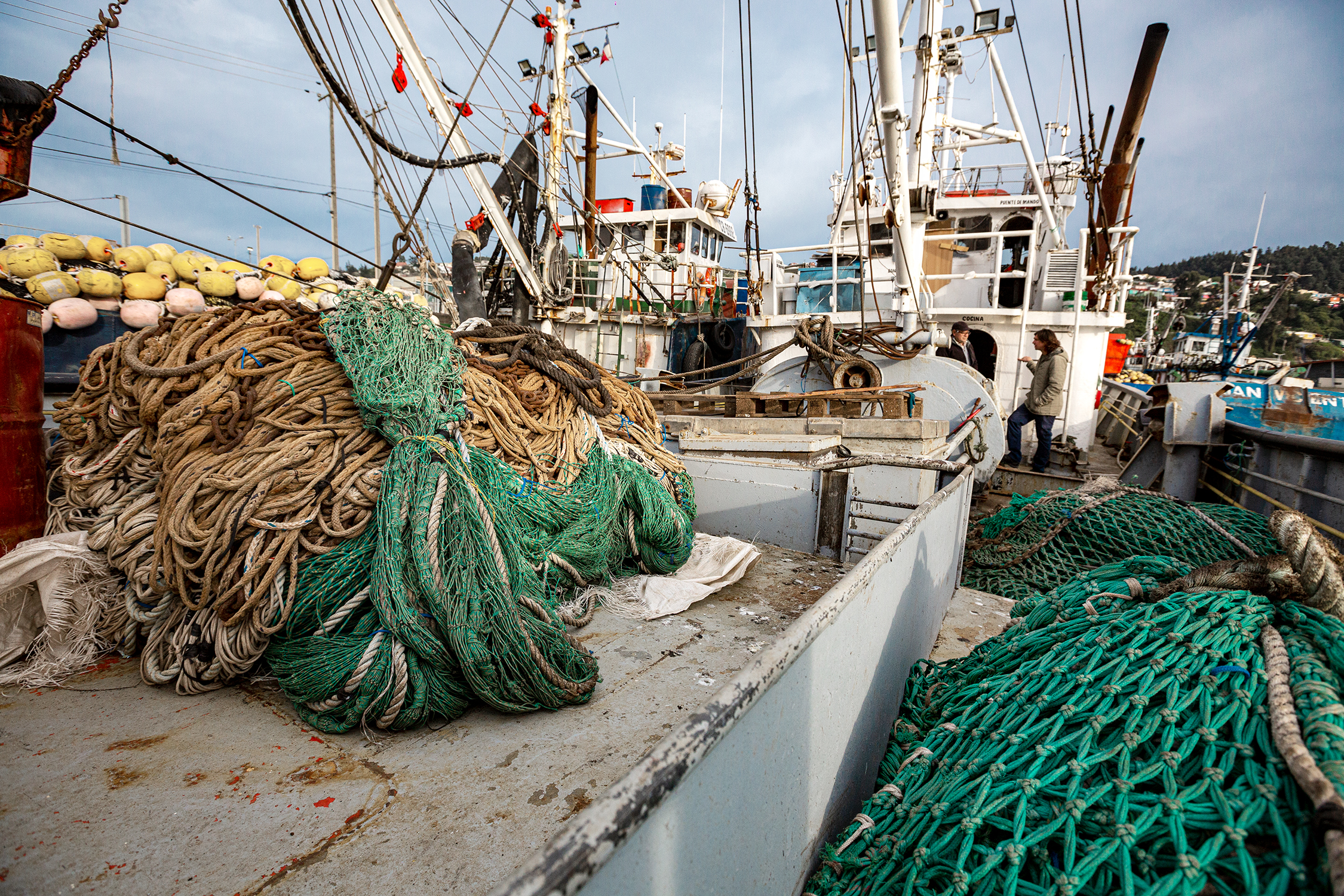Fishing nets that will be recycled into NetPlus fabric