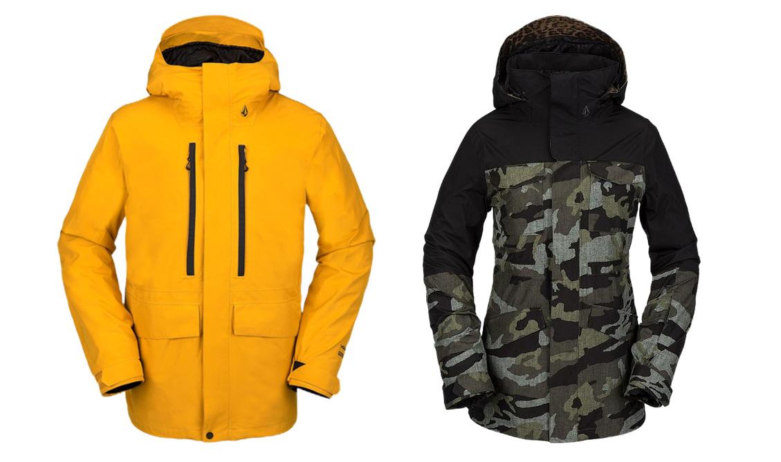 volcom ten and leda gore-tex jackets