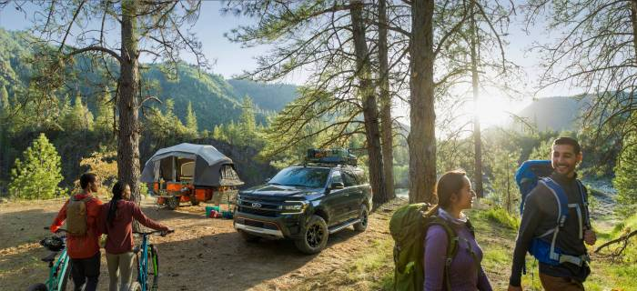 2022 Ford Expedition Timberline at campground