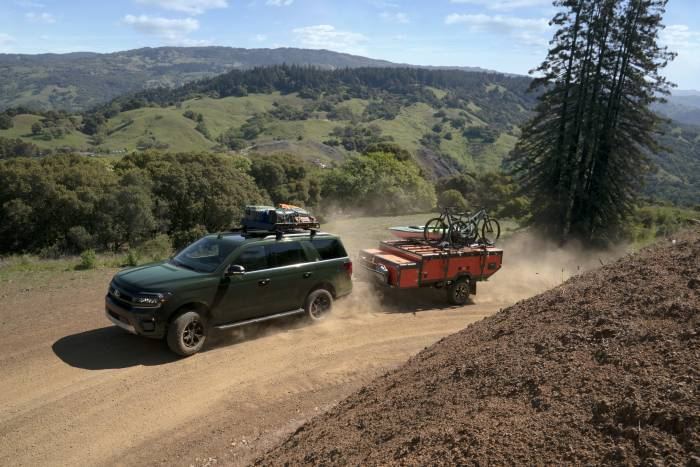 2022 Ford Expedition Timberline on dirt road