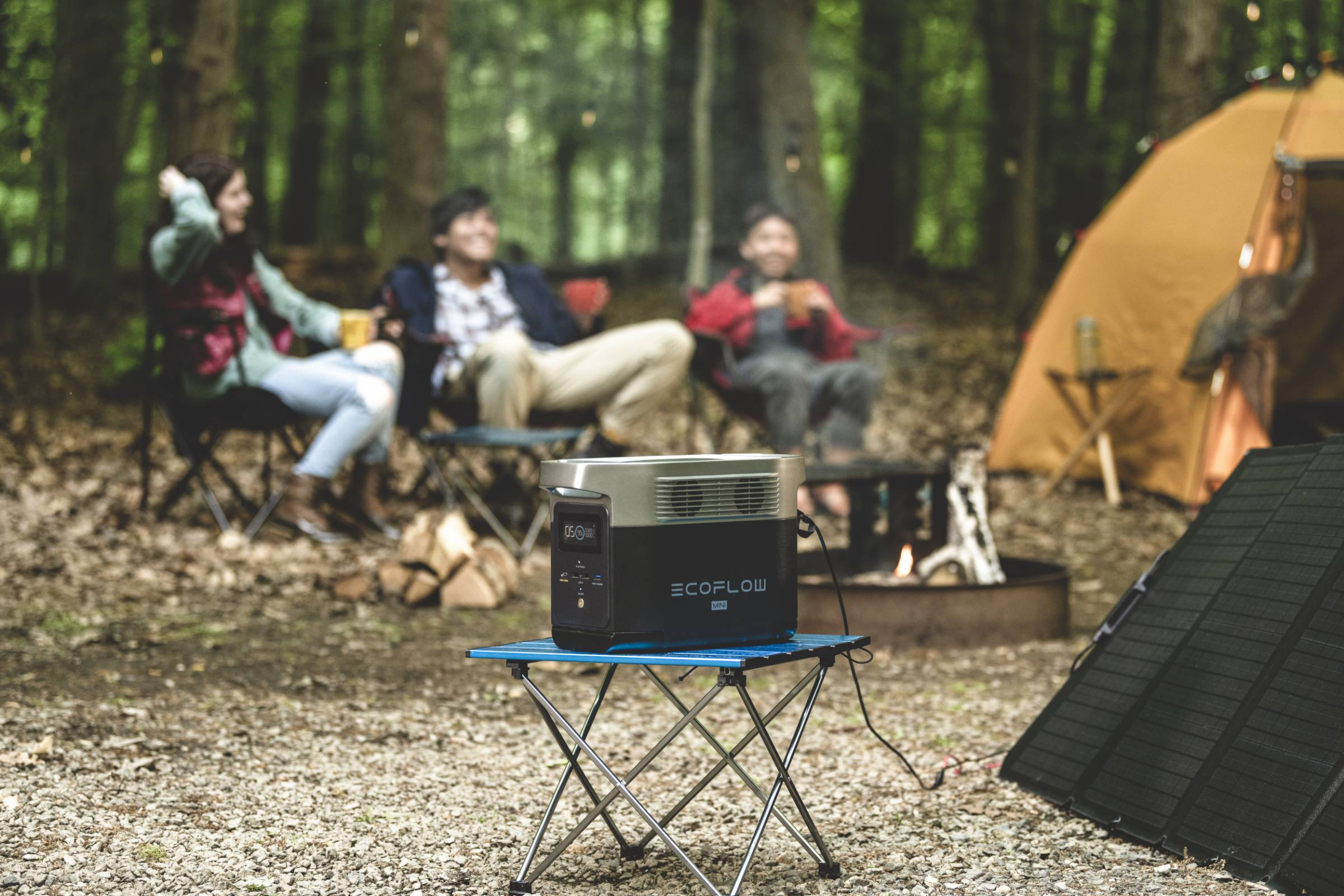 Camping with EcoFlow DELTA mini