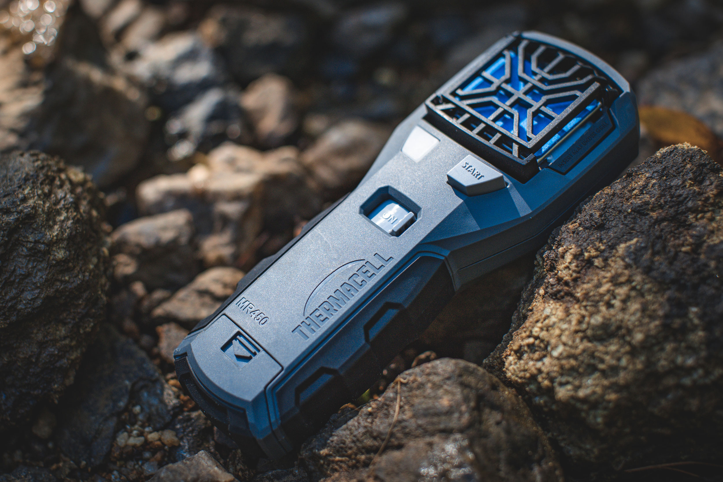 thermacell mr450 on rocks