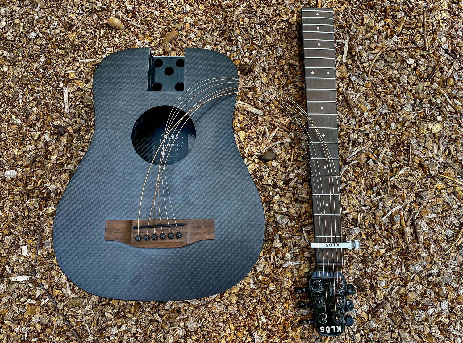 Klos Deluxe Travel Guitar - collapsible neck