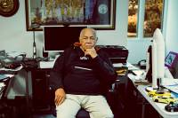 America's first black space commander, Fred Gregory, in the NASA x OROS C41 Flight Jacket; (photo/Matallana Studios)