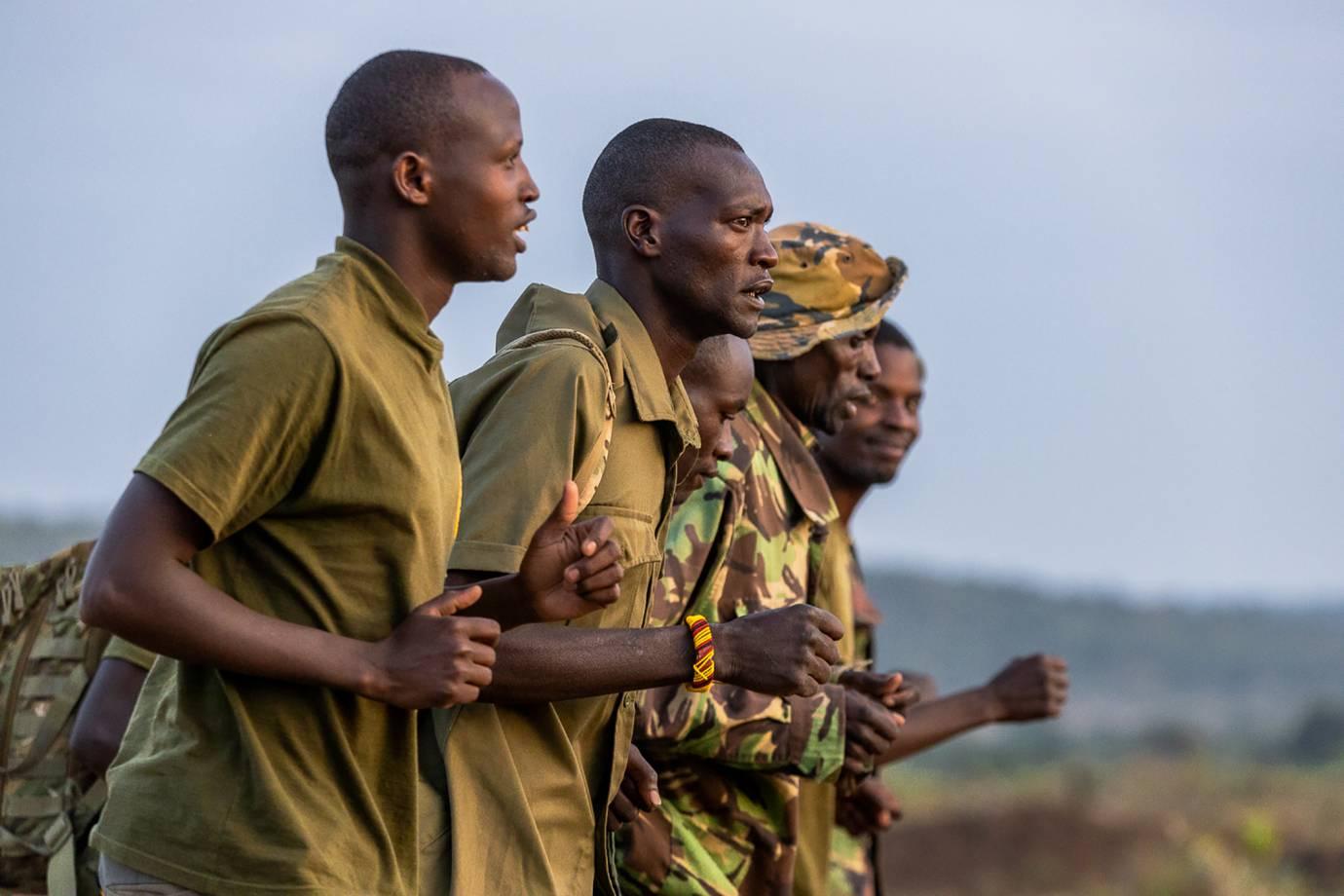 African Wildlife rangers run in Wildlife Ranger Run anti-poaching challenge