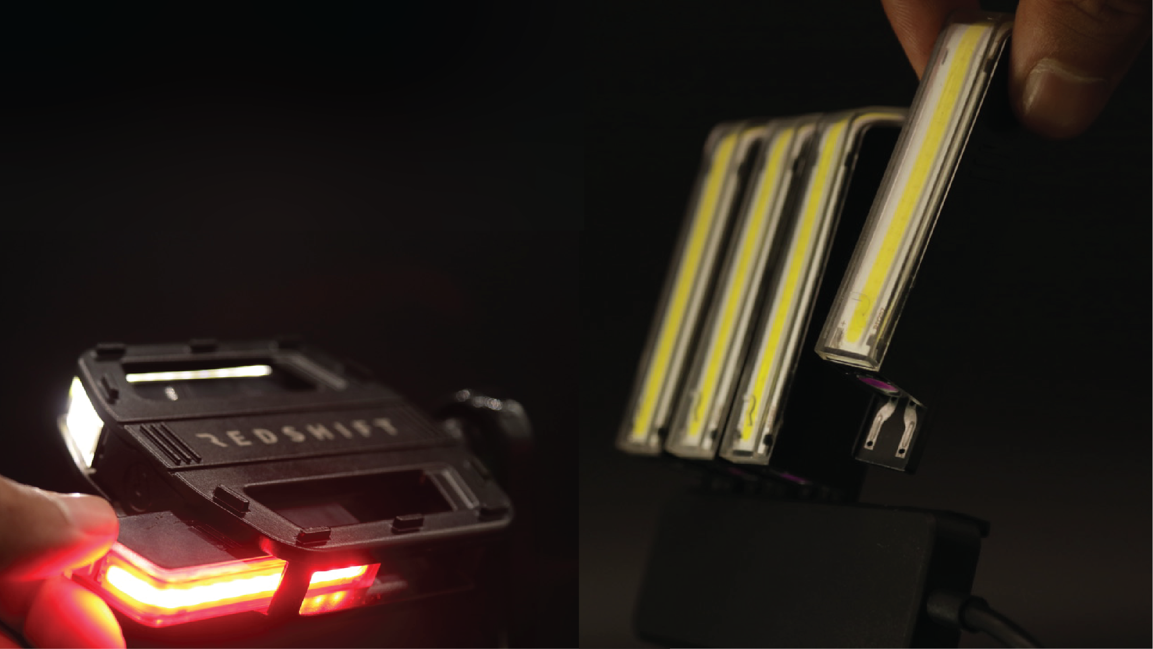 Redshift's LED Arclight Pedals - design