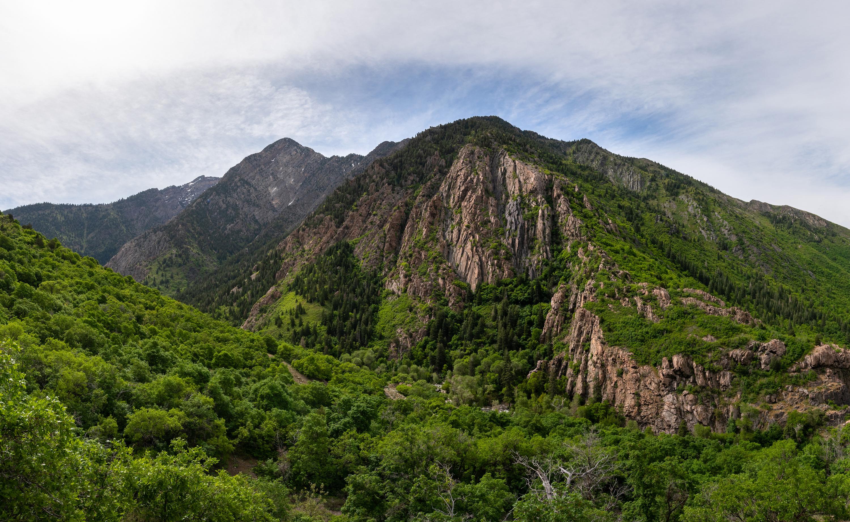 view of Big Cottonwood Canyon in SLC Utah