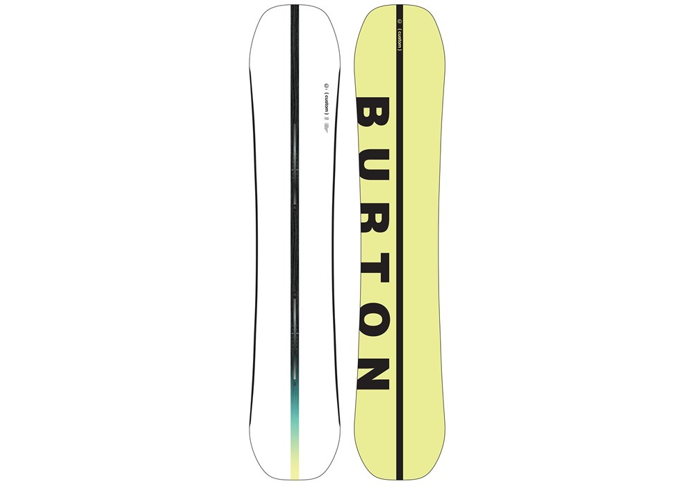 burton custom flying V snowboard.