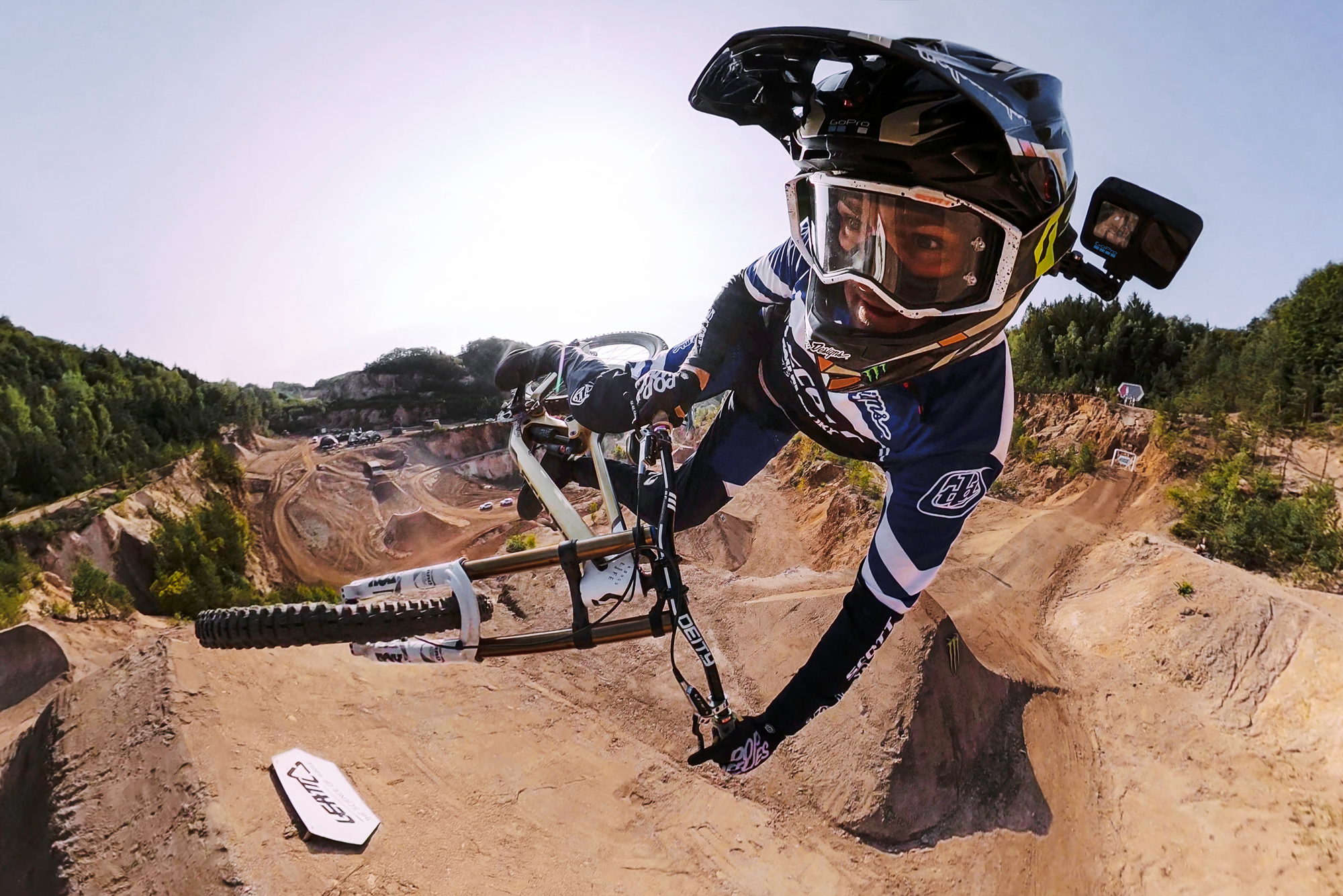 Dirt biker tail whipping with GoPro HERO10 Black action camera