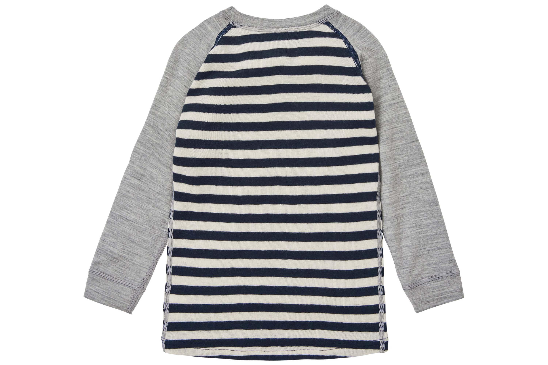 helly hansen merino long sleeve kid's top with stripe pattern