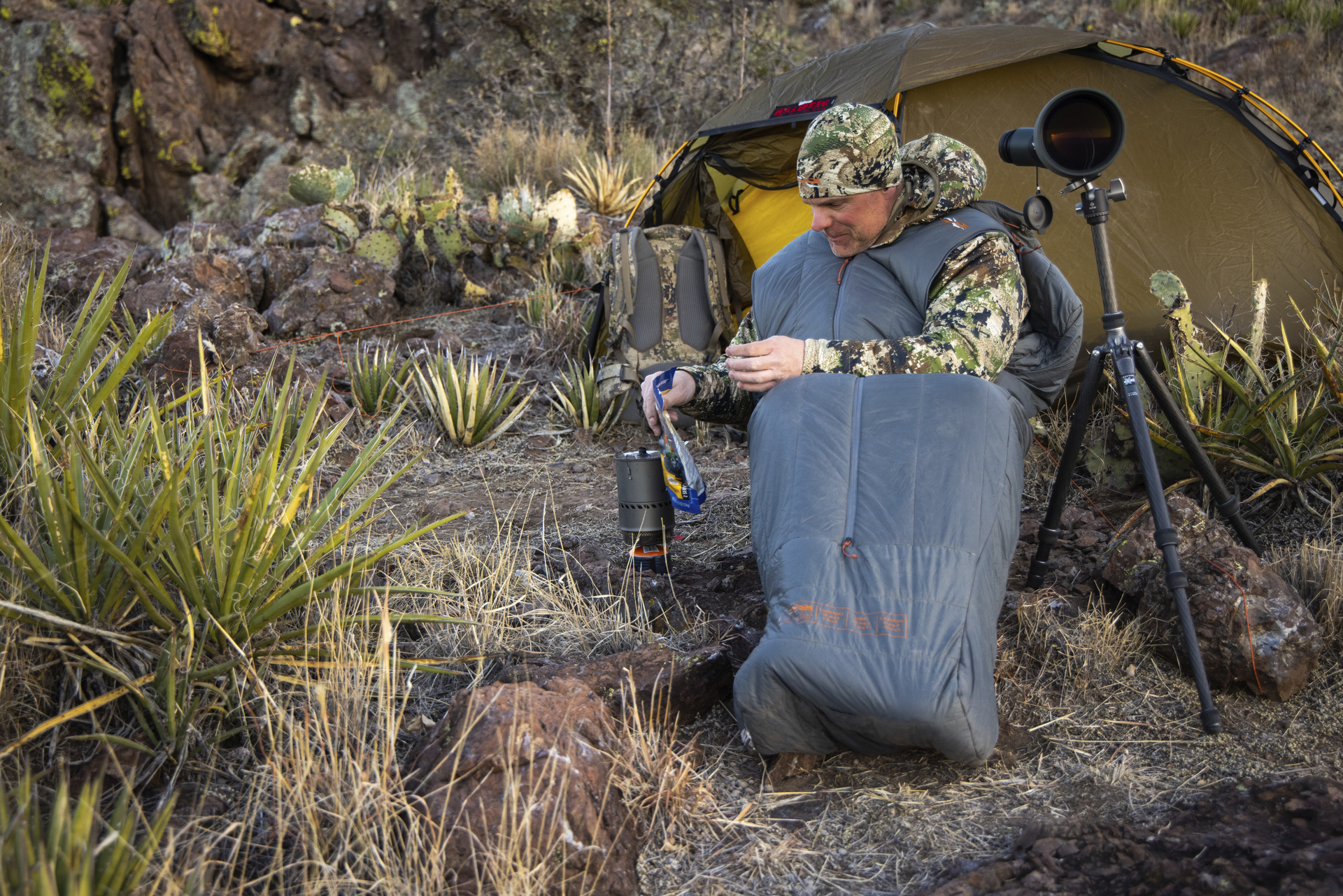 Camping in the Sitka Gear Aerolite Collection