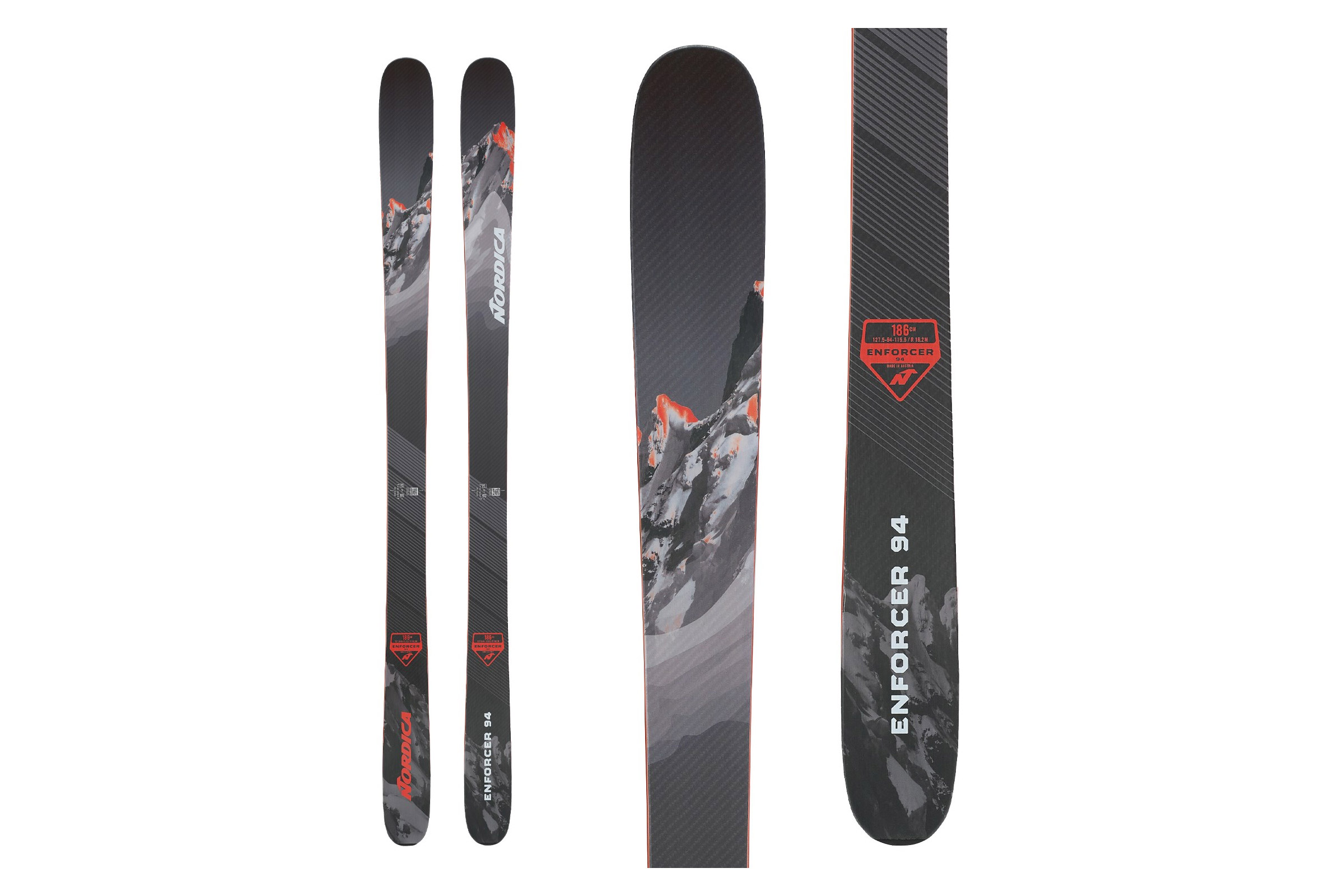 nordica enforcer 94 - all mountain skis