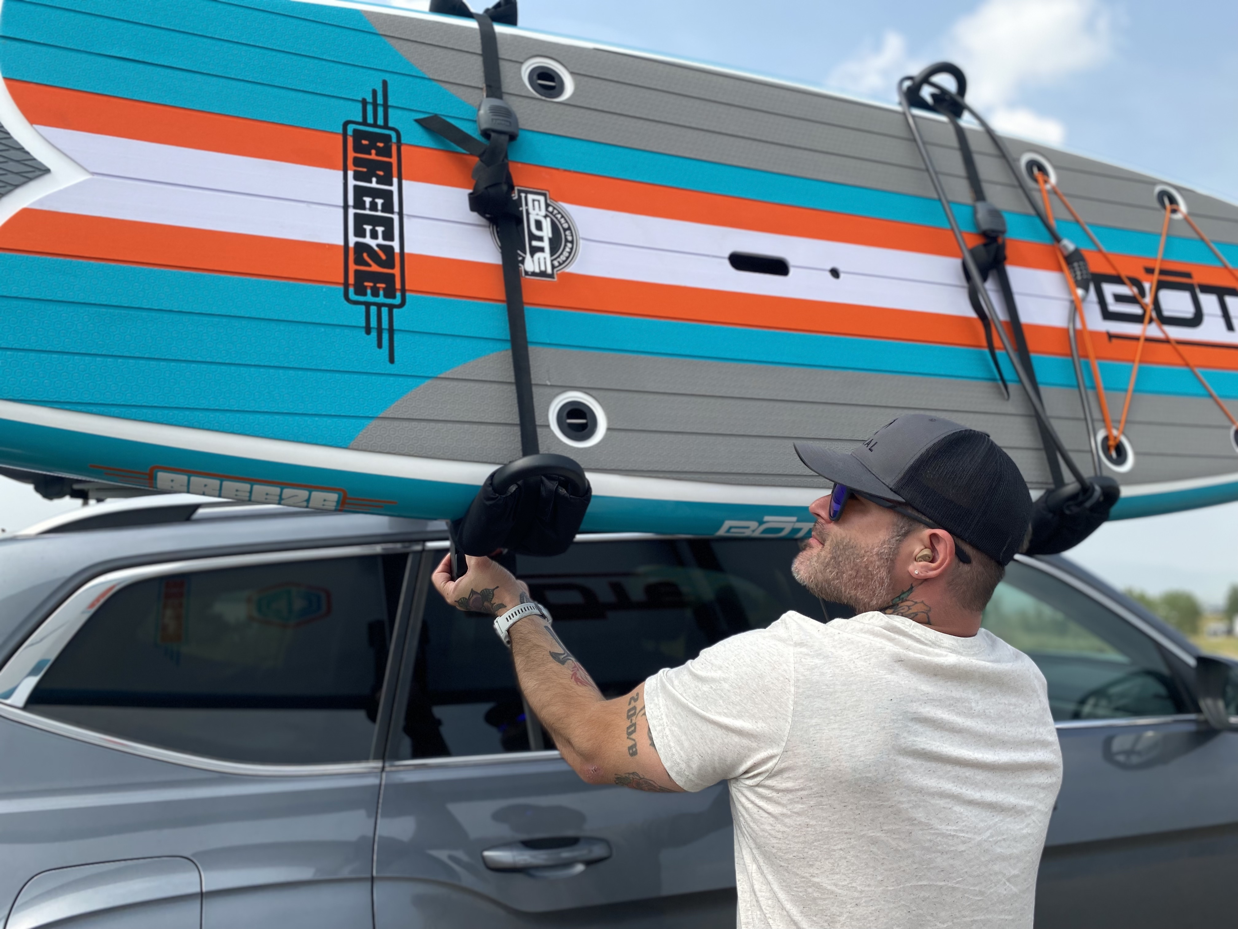 putting rack to roof with lift assist