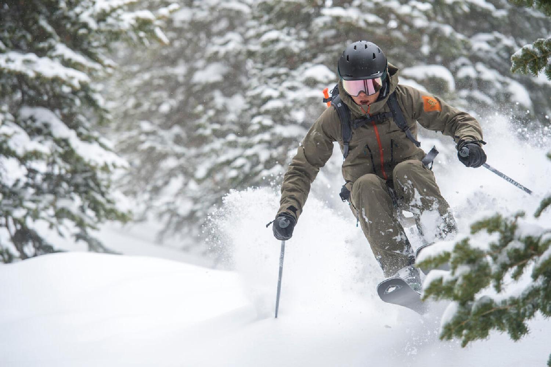 skier on salomon stance 96 all-mountain skis