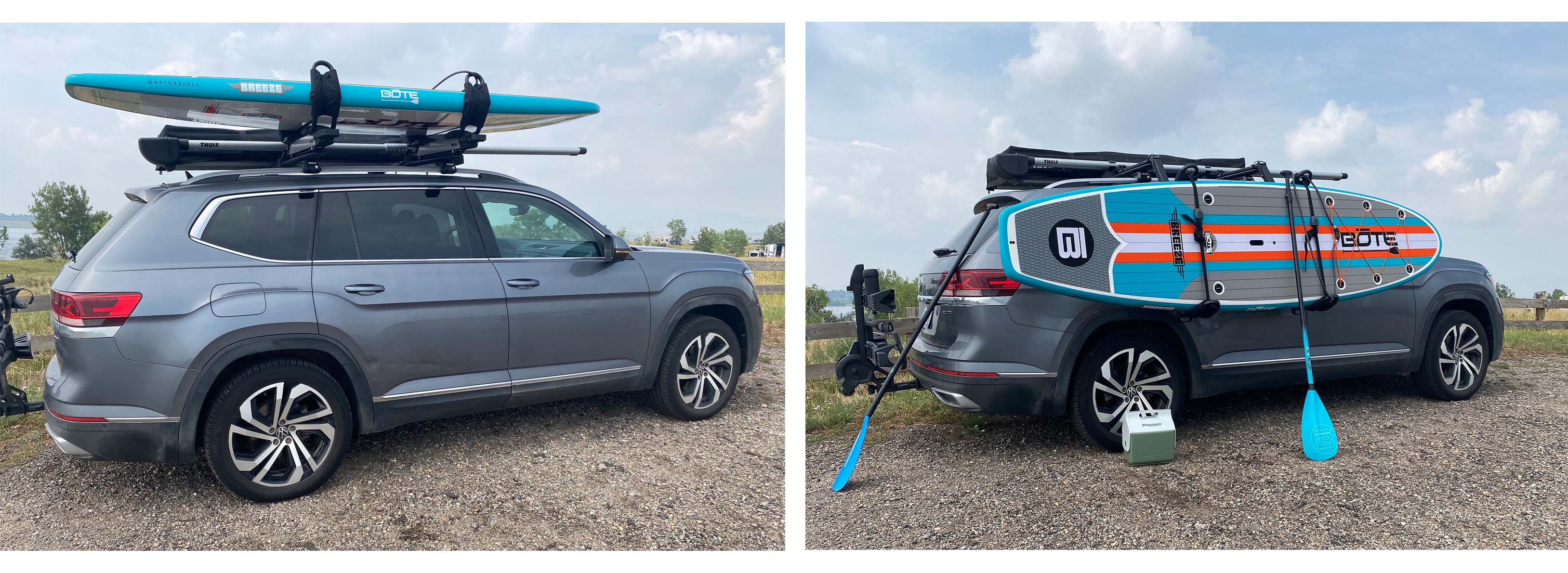 the thule hullavator rack, before and after