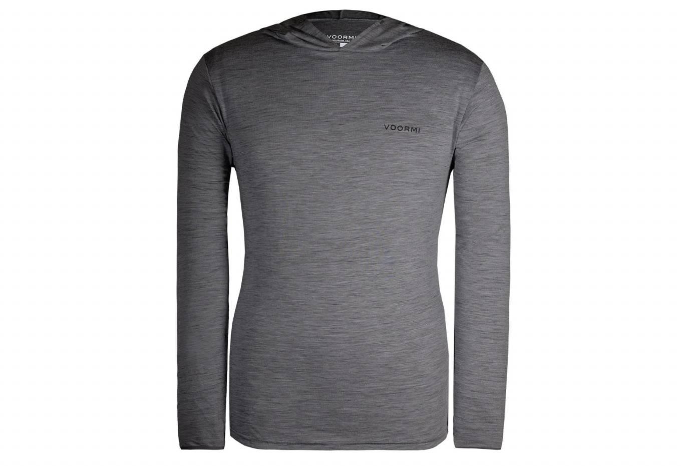 voormi ultralight wool hoodie in gray