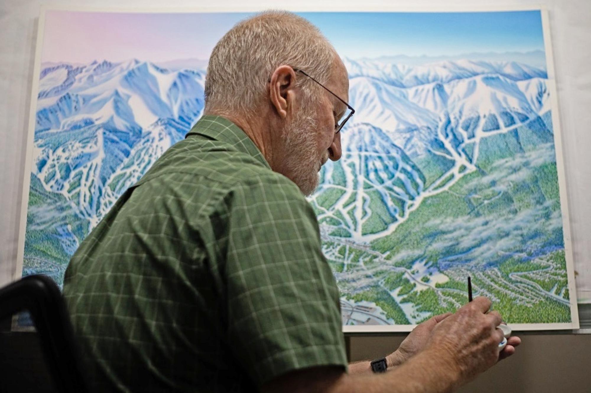 Niehues trabaja desde el estudio de su casa en Parker, Colorado; (Cortesía de J. Niehues vía Verde PR)