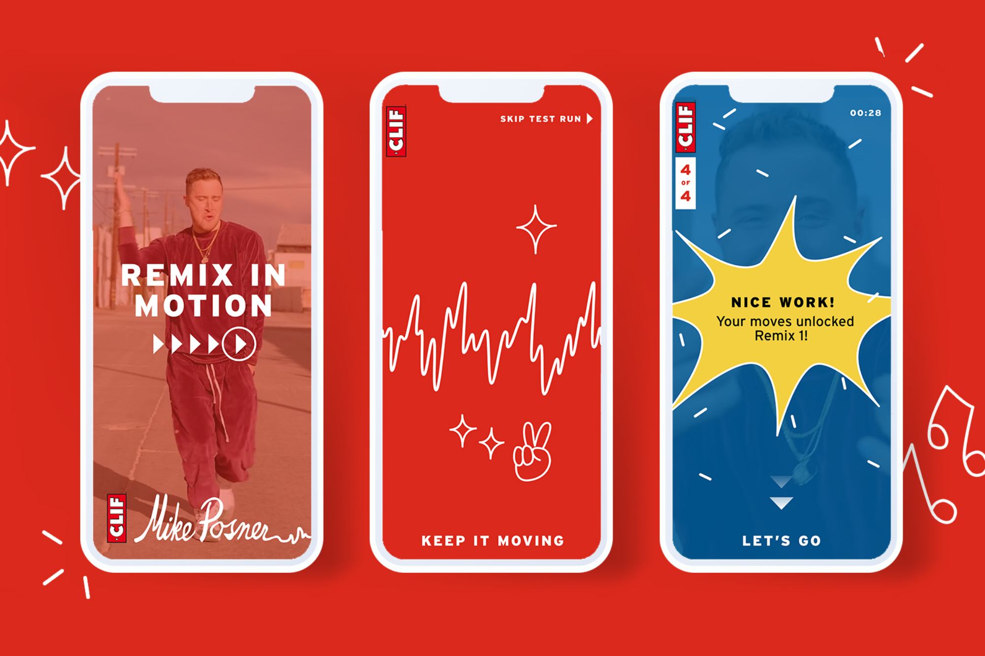 Clif Bar and Mike Posner collaborate on the Remix in Motion app