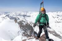 La esquiadora Christy Mahon en un pico de 13.000 pies