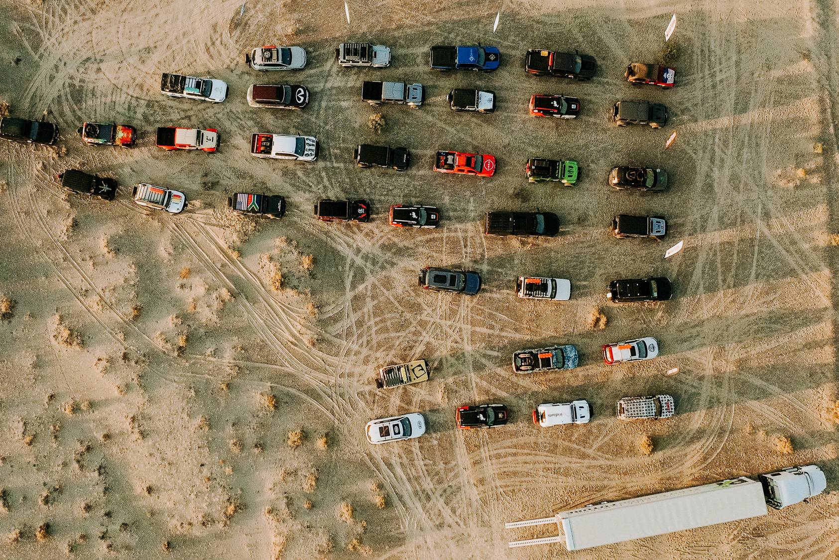 Foto aérea del rally rebelde 2020