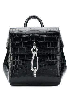 Crocodile backpack with raised hook ALEXANDER WANG | 10000001 | 2028B0501L001